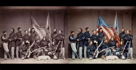 civil war pictures in color abraham lincoln before and after2 before and after