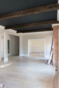 Faux Shiplap Ceiling Shiplap Ceiling Beams Black Ceiling Gray Walls Black