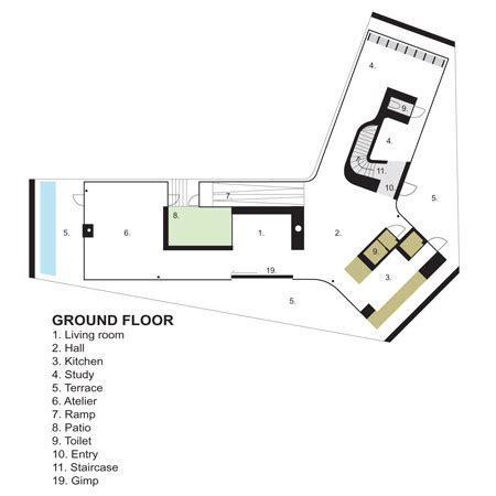 company floor plan gallery of villa 1 powerhouse company 18