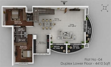 top floor plans 3d duplex 4th floor top