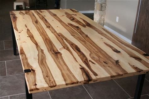 hickory logs milled    custom dining table