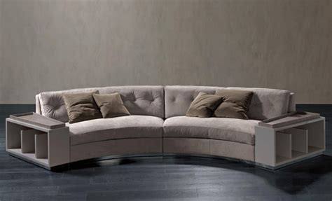 How To Choose Pillows For Sofa Semi Circular Sofa In Leather Circus Rugiano Luxury