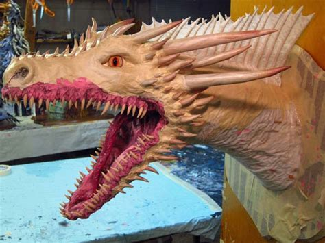 How To Make A Paper Mache Nose - paper mache drogon version horns and nose