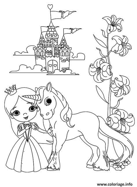 Coloriage De Chateau De Princesse A Imprimer