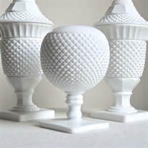 westmoreland milk glass vase spherical white glass