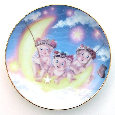b toys light me to the moon light of the moon kristin dreamsicles plate 1995