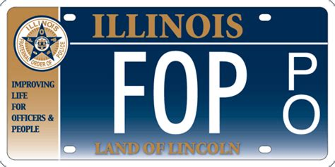 State Of Illinois Vanity Plates Illinois Fraternal Order Of Police License Plates