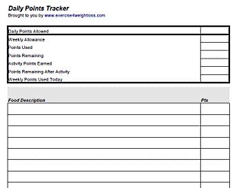 free weight watchers tracker printable journal for weight watchers