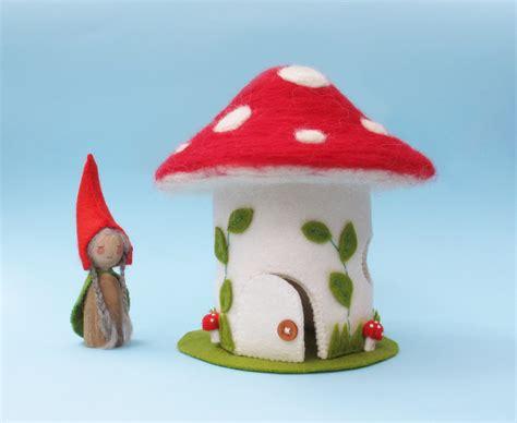 felt gnome pattern toadstool house felt gnome peg doll sewing pattern pdf