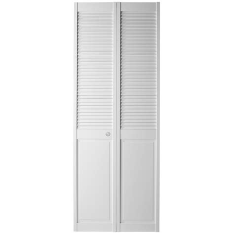 Closet Doors Bifold Shop Reliabilt Louver Panel Solid Pine Bifold Closet Door Common 30 In X 80 75 In Actual