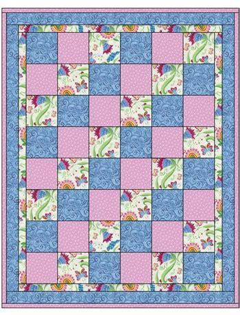 quilt pattern using 3 fabrics sew ez 3 yard quilt pattern
