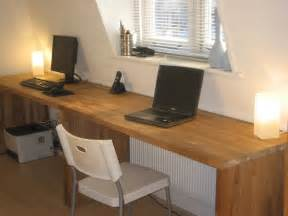 Long Desk Table Big Oak Desk From Kitchen Worktops
