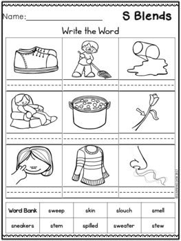 L Blends Coloring Pages by Beginning Blends Worksheets L R S Blend Worksheets By