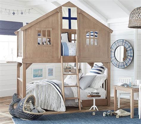 tree house twin  twin kids bunk bed pottery barn kids