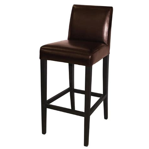 High Back Bar Stool Bolero Faux Leather High Bar Stool With Back Gg652