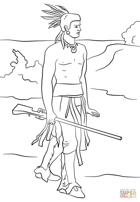 squanto coloring page free printable coloring pages