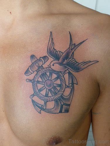 anchor chest tattoo 50 anchor tattoos on chest