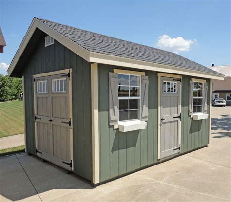 amish  ez fit riverside shed kit wood shed plans