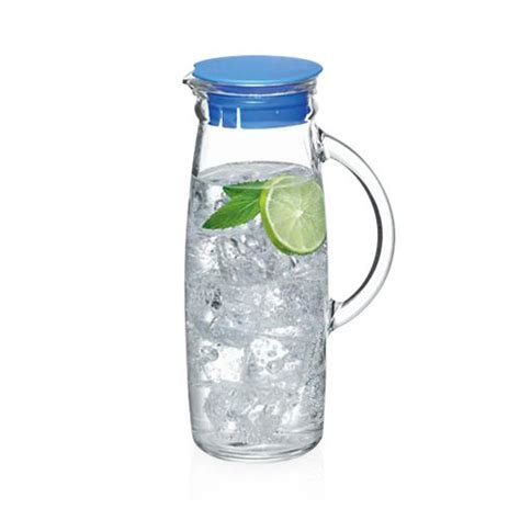 glass jug l base glasslock water jug with lid 1l ebay