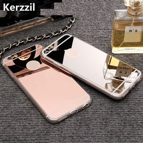 Iphone 7 Plus Casing List Chrome Tpu Soft Cover Casing kerzzil gold luxury mirror flash fashion for