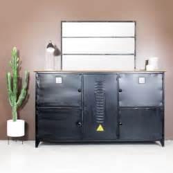 buffet bas industriel m 233 tal noir style casier made in