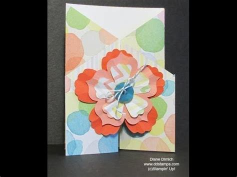 Paper Folding Cards Techniques - using stin up watercolor paper make a fold