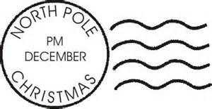 north pole postmark envelope christmas art lovetocreatestamps