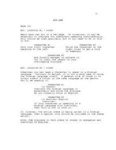 screenplay format template image gallery screenwriting template