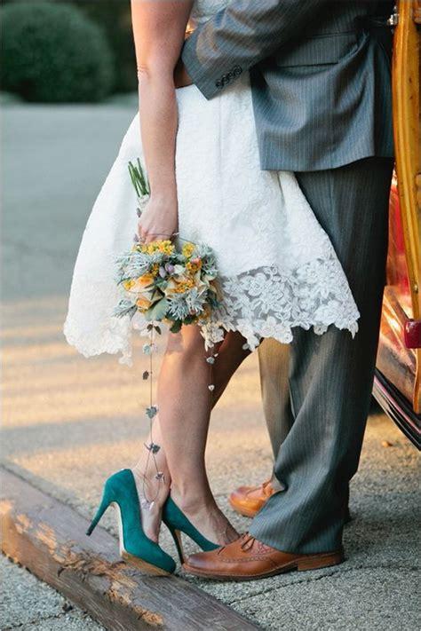 mini guia sapato de noiva colorido