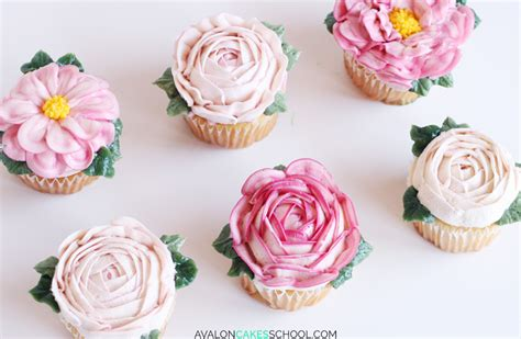 Cupcake Buttercream Birthday Package how to make buttercream flower cupcakes avalon cakes