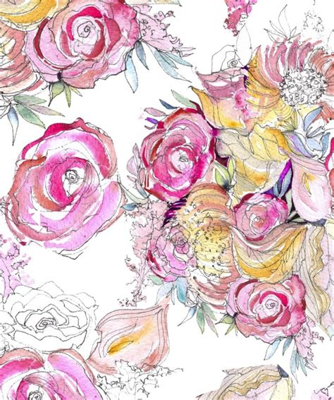 watercolor pattern floral my story is art neon floral watercolor patternmomental