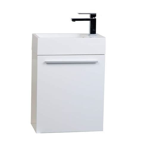 18 Bath Vanity by Buy 18 Inch Bathroom Vanity Set Glossy White Tn T460 Hgw