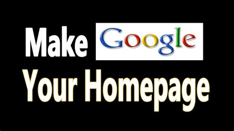 create my home how to make google my homepage in firefox chrome safari