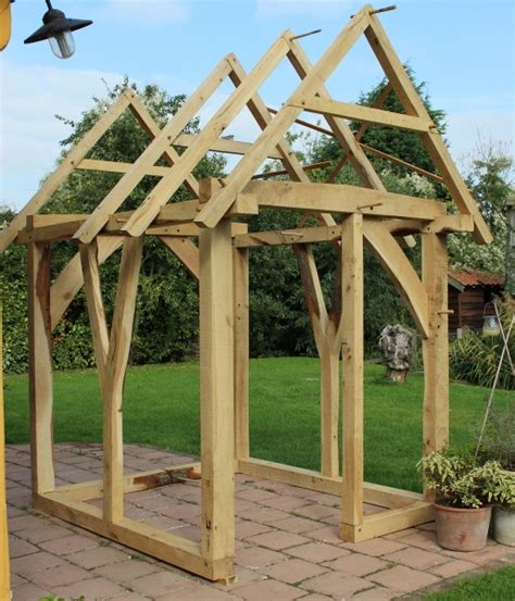 Timber Frame Shed by The Shed Chaplin Oak Timber Framing
