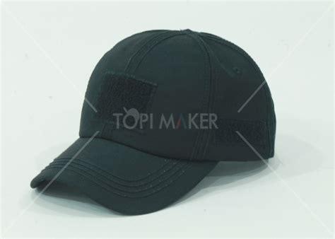 Topi Tactical Hitam Polos Velcro topi velcro hitam