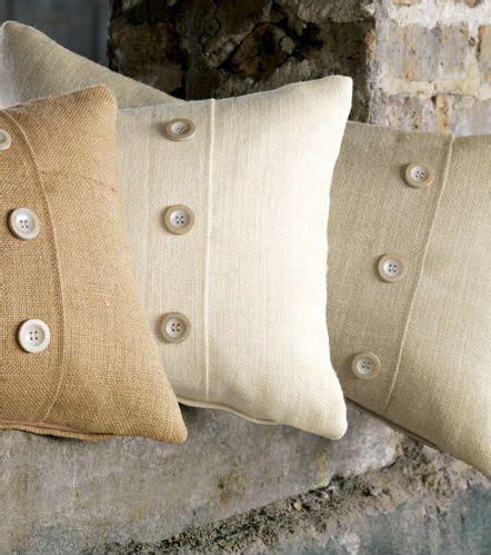 decorative buttons for pillows rustic burlap decorative pillows with buttons http www
