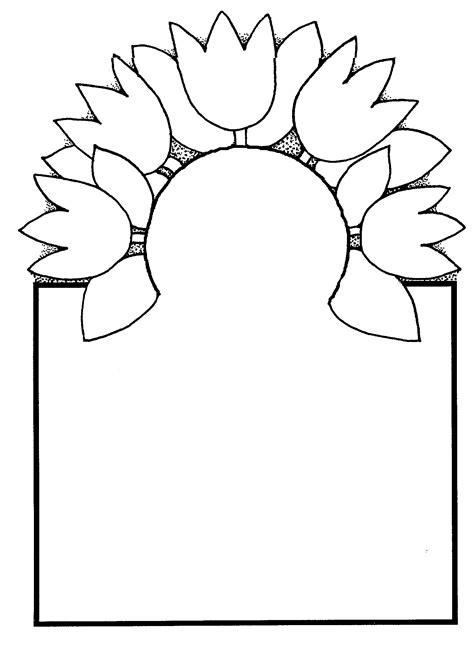 Free Spring Flower Black And White Clip Art 51