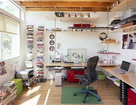 home workspace double and small home office desk ideas