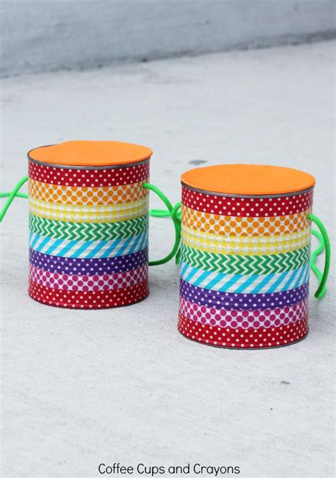 diy crafts with tin cans diy tin can stilts coffee cups and crayons