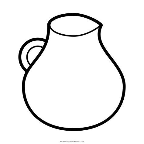 imagenes para colorear jarra dibujo de jarra de agua para colorear ultra coloring pages