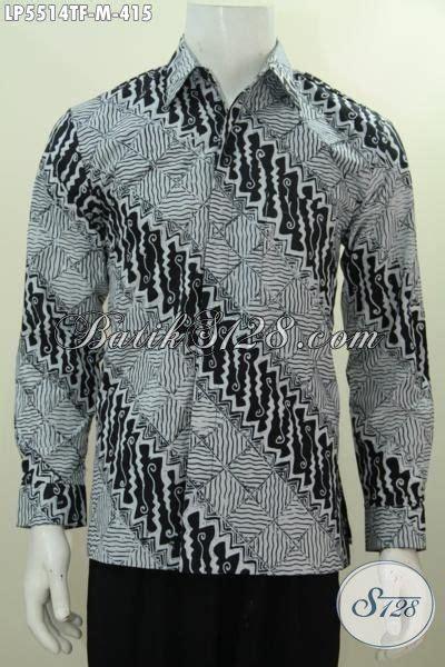Kemeja Pria Spark Lp Putih jual hem batik tulis hitam putih kemeja batik