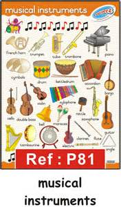 Flash Cards In Maths Quot Musical Instruments Quot Laminated Poster 680mm X 480mm