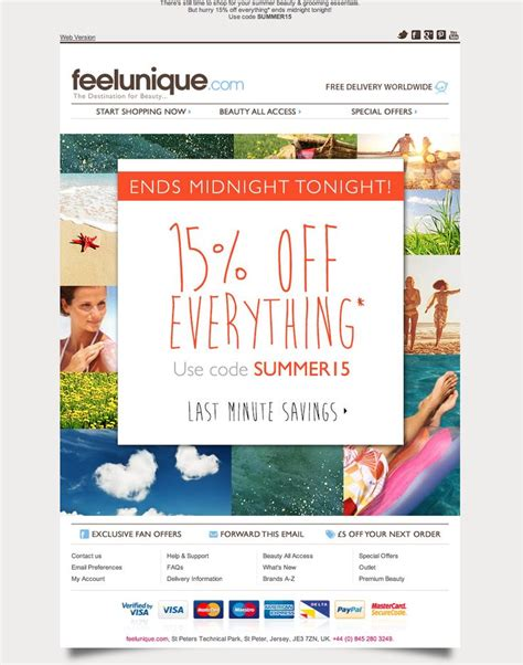 simple but effective email blast design inspiration