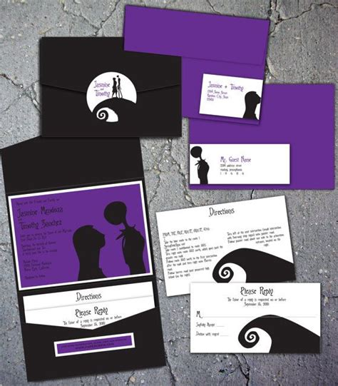 nightmare before invitations 49 best images about tim burton themed wedding inspiration