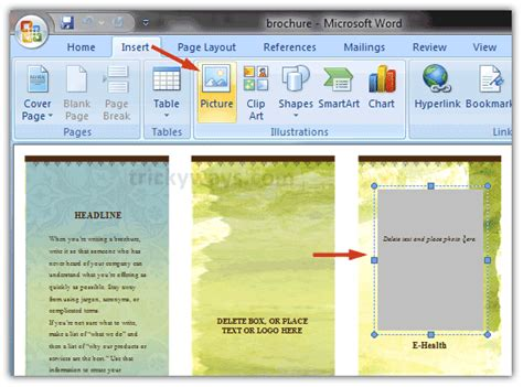 microsoft word brochure templates how to make a brochure on microsoft word 2010 without