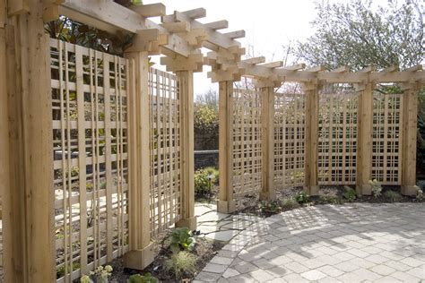 Master Bathroom Design Ideas trellis fence panels landscape modern with aesthetic