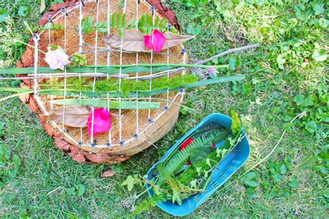 Diy Craft Projects For The Yard And Garden - tree stump natural loom fun family crafts