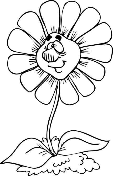 cartoon flower coloring page flowers cartoons coloring pages clipart best