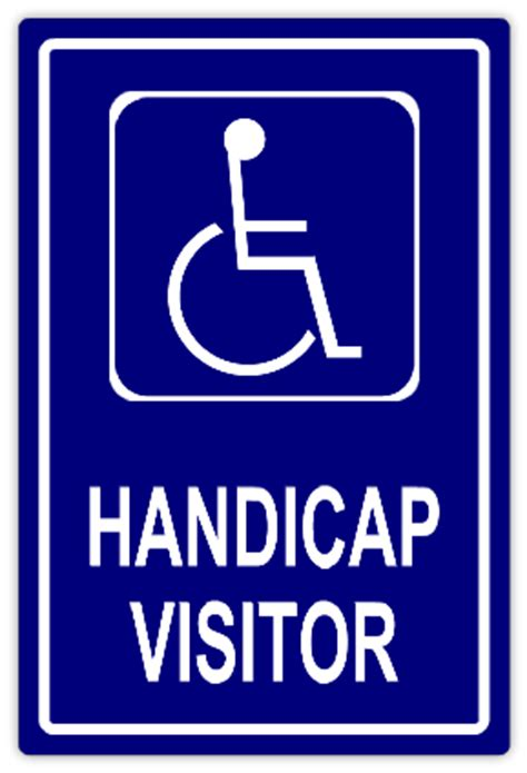 handicap visitor handicap parking sign templates