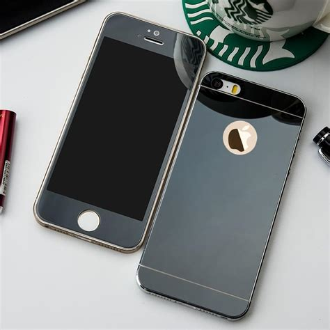 Tempered Glass Mirror Front Back Iphone 7plus 7splus Color front back mirror tempered glass screen protector cover for apple iphone ebay